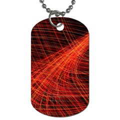 A Christmas Light Painting Dog Tag (one Side)