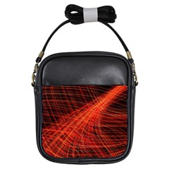 A Christmas Light Painting Girls Sling Bags by Celenk