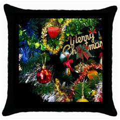 Decoration Christmas Celebration Gold Throw Pillow Case (black) by Celenk