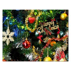 Decoration Christmas Celebration Gold Rectangular Jigsaw Puzzl by Celenk