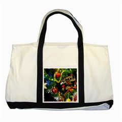 Decoration Christmas Celebration Gold Two Tone Tote Bag by Celenk