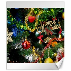 Decoration Christmas Celebration Gold Canvas 8  X 10  by Celenk