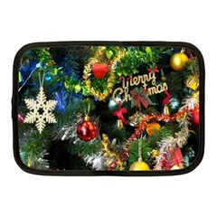 Decoration Christmas Celebration Gold Netbook Case (medium)  by Celenk