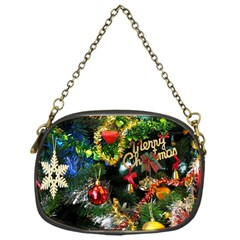 Decoration Christmas Celebration Gold Chain Purses (one Side)  by Celenk