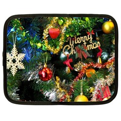 Decoration Christmas Celebration Gold Netbook Case (xl)