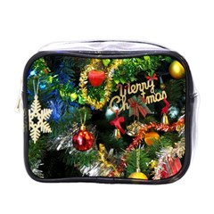 Decoration Christmas Celebration Gold Mini Toiletries Bags by Celenk