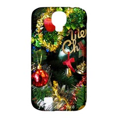 Decoration Christmas Celebration Gold Samsung Galaxy S4 Classic Hardshell Case (pc+silicone) by Celenk