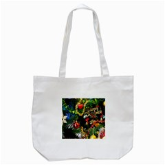 Decoration Christmas Celebration Gold Tote Bag (white) by Celenk