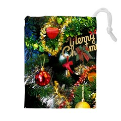 Decoration Christmas Celebration Gold Drawstring Pouches (extra Large) by Celenk