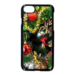 Decoration Christmas Celebration Gold Apple Iphone 7 Seamless Case (black) by Celenk