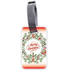 Merry Christmas Wreath Luggage Tags (two Sides)
