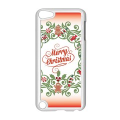 Merry Christmas Wreath Apple Ipod Touch 5 Case (white) by Celenk