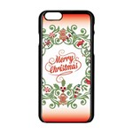 Merry Christmas Wreath Apple iPhone 6/6S Black Enamel Case Front