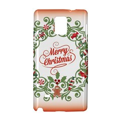 Merry Christmas Wreath Samsung Galaxy Note 4 Hardshell Case by Celenk