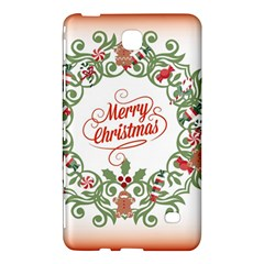 Merry Christmas Wreath Samsung Galaxy Tab 4 (8 ) Hardshell Case  by Celenk