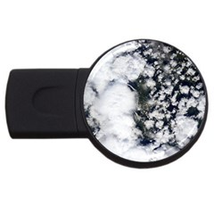 Earth Right Now Usb Flash Drive Round (4 Gb) by Celenk