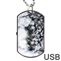 Earth Right Now Dog Tag Usb Flash (two Sides) by Celenk