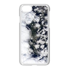 Earth Right Now Apple Iphone 8 Seamless Case (white) by Celenk