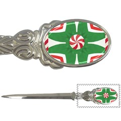 Candy Cane Kaleidoscope Letter Openers by Celenk