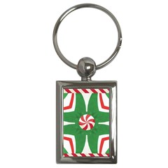Candy Cane Kaleidoscope Key Chains (rectangle)