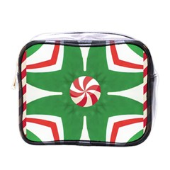 Candy Cane Kaleidoscope Mini Toiletries Bags by Celenk
