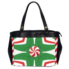 Candy Cane Kaleidoscope Office Handbags (2 Sides)  by Celenk