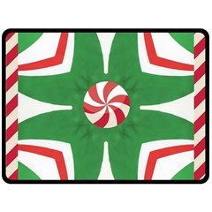 Candy Cane Kaleidoscope Fleece Blanket (large)  by Celenk