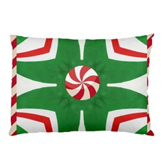 Candy Cane Kaleidoscope Pillow Case (two Sides)