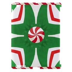 Candy Cane Kaleidoscope Apple Ipad 3/4 Hardshell Case (compatible With Smart Cover) by Celenk