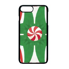 Candy Cane Kaleidoscope Apple Iphone 7 Plus Seamless Case (black)