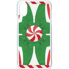 Candy Cane Kaleidoscope Apple Iphone X Seamless Case (white) by Celenk