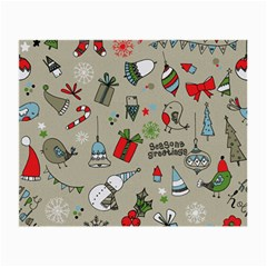Beautiful Design Christmas Seamless Pattern Small Glasses Cloth by Celenk