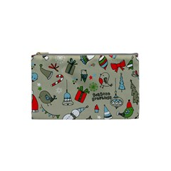 Beautiful Design Christmas Seamless Pattern Cosmetic Bag (small)  by Celenk
