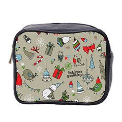 Beautiful Design Christmas Seamless Pattern Mini Toiletries Bag 2 Side by Celenk