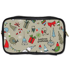 Beautiful Design Christmas Seamless Pattern Toiletries Bags 2 Side by Celenk