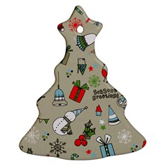 Beautiful Design Christmas Seamless Pattern Ornament (christmas Tree)