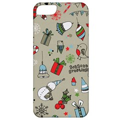 Beautiful Design Christmas Seamless Pattern Apple Iphone 5 Classic Hardshell Case by Celenk