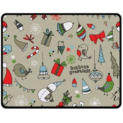 Beautiful Design Christmas Seamless Pattern Double Sided Fleece Blanket (medium)  by Celenk