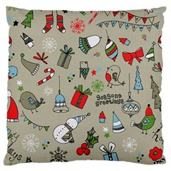 Beautiful Design Christmas Seamless Pattern Standard Flano Cushion Case (one Side) by Celenk