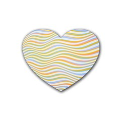 Art Abstract Colorful Colors Rubber Coaster (heart)  by Celenk
