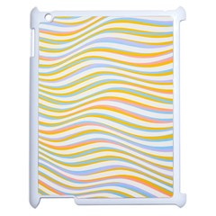Art Abstract Colorful Colors Apple Ipad 2 Case (white) by Celenk