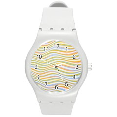 Art Abstract Colorful Colors Round Plastic Sport Watch (m) by Celenk
