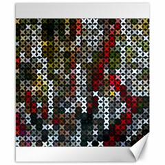 Christmas Cross Stitch Background Canvas 8  X 10