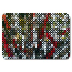 Christmas Cross Stitch Background Large Doormat