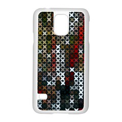 Christmas Cross Stitch Background Samsung Galaxy S5 Case (white)