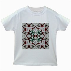 Christmas Paper Kids White T Shirts by Celenk