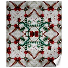 Christmas Paper Canvas 8  X 10  by Celenk