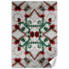 Christmas Paper Canvas 12  X 18   by Celenk
