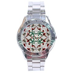 Christmas Paper Stainless Steel Analogue Watch by Celenk