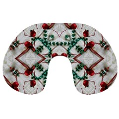 Christmas Paper Travel Neck Pillows by Celenk
